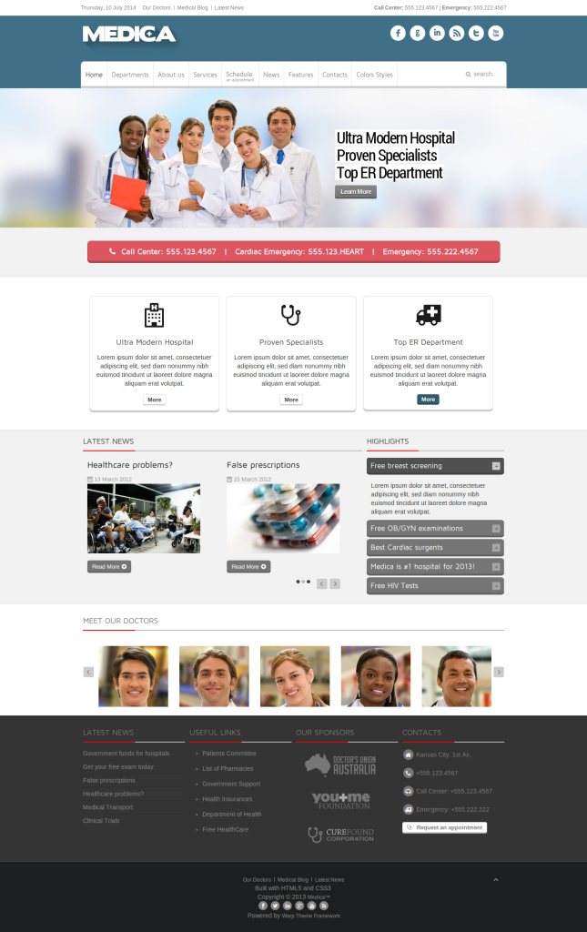 9 Awesome Healthcare And Medical Joomla Templates Sopan
